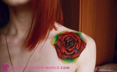 Lijepa žena Tetovaže I Njihov Položaj Na Tijelu Foto